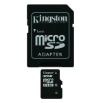 MICRO SDHC KINGSTON 32GB CL.10 + ADATTATORE