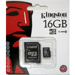 MICRO SDHC KINGSTON 16GB CL.10 + ADATTATORE